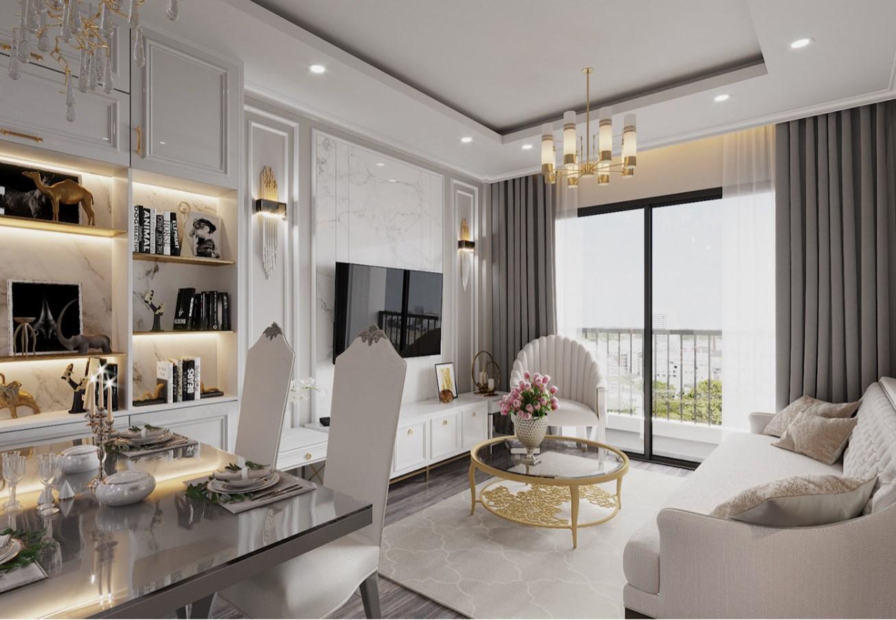 Thiết kế nội thất 2021 chung cư phong cách luxury